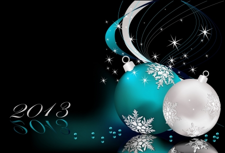 Merry Christmas  background silver and blue Stock Vector - 16137015