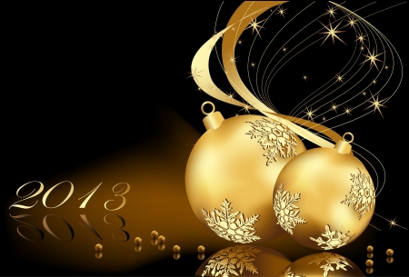 Gold Merry Christmas  background Stock Vector - 16137008