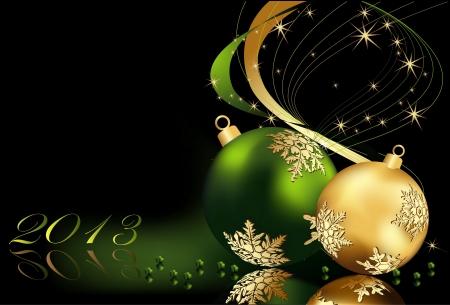 Kerst achtergrond goud en groen