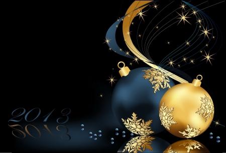 Kerst achtergrond goud en blauw