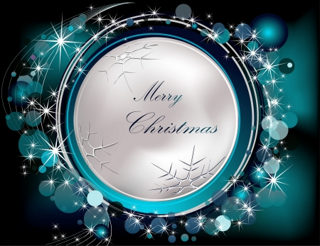 Merry Christmas  background silver and blue Vettoriali