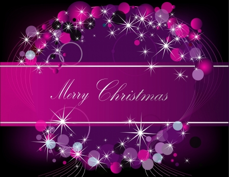 Merry Christmas  background silver and violet Stock Vector - 16269355