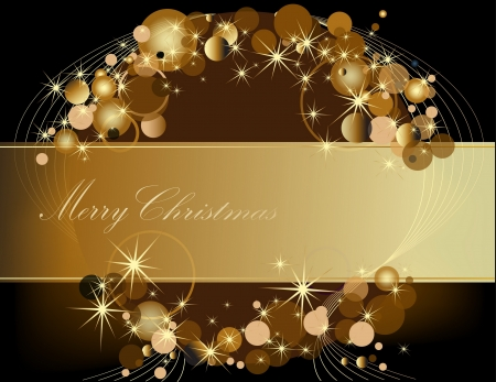 Gold Merry Christmas  background  Vector