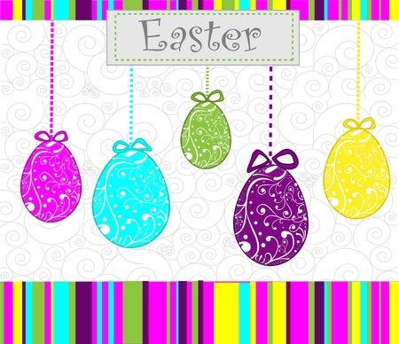 religious symbol: Happy Easter background with eggs