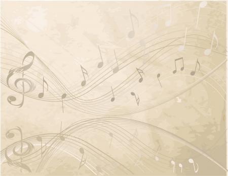 음악 노트가있는 빈티지 배경