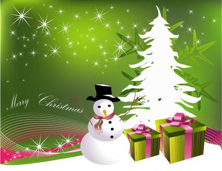 christmas gift box: Christmas tree with gifts