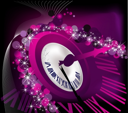 Merry Christmas and happy New Year background silver and violet Vector