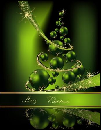 Weihnachtsbaum grün und gold