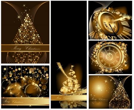 Gold Merry Christmas background Sammlungen