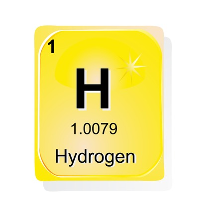 Hydrogen chemical element with atomic number, symbol and weight Stock Vector - 24509702