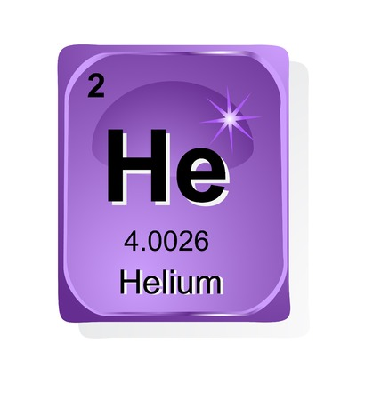 Hellium chemical element with atomic number, symbol and weight Stock Vector - 24509703