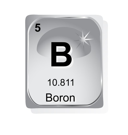 boron: Boron chemical element with atomic number, symbol and weight