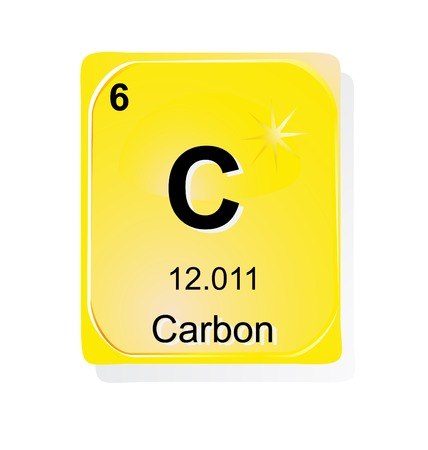 Carbon Chemical Element With Atomic Number Symbol And Weight
