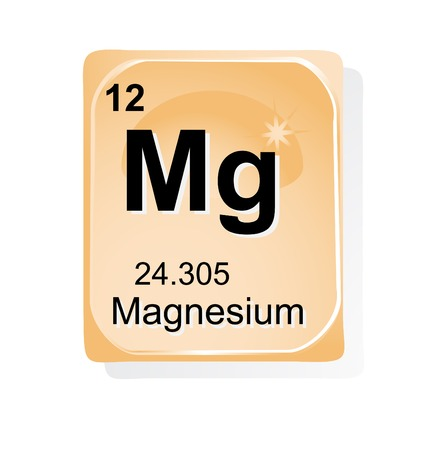 Magnesium: Magnesium chemical element with atomic number, symbol and weight Illustration