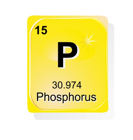 phosphorus: Phosphorus chemical element with atomic number, symbol and weight Illustration