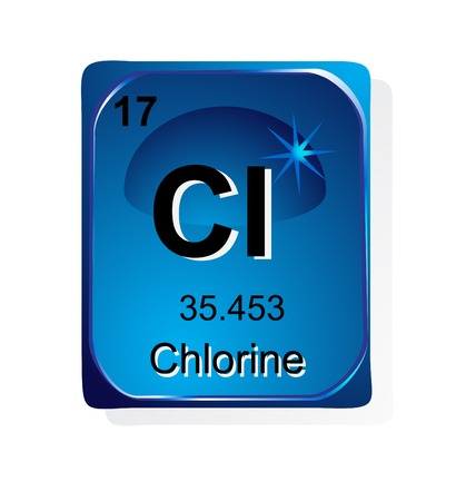 Chlorine chemical element with atomic number, symbol and weight Stock Vector - 24509730
