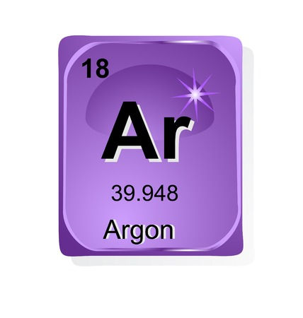 Argon chemical element with atomic number, symbol and weight Stock Vector - 24509731