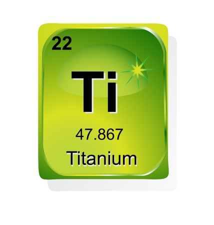 Titanium chemical element with atomic number, symbol and weight Vector