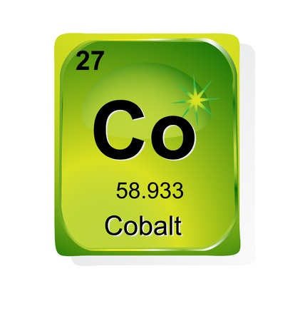 Cobalt  chemical element with atomic number, symbol and weight Stock Vector - 24509753
