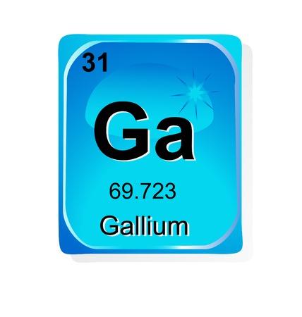 uranium: Gallium chemical element with atomic number, symbol and weight