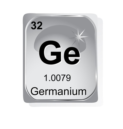 Germanium chemical element with atomic number, symbol and weight Stock Vector - 24509751