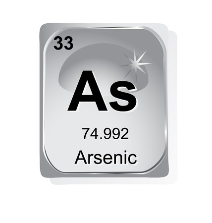 arsenic: Arsenic chemical element with atomic number, symbol and weight