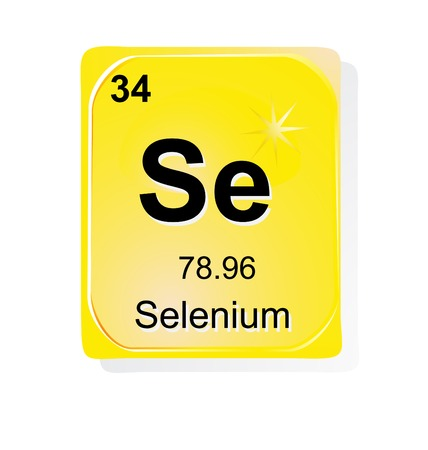 Selenium chemical element with atomic number, symbol and weight Vector