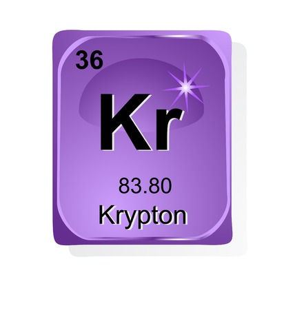 Krypton  chemical element with atomic number, symbol and weight Stock Vector - 24509758