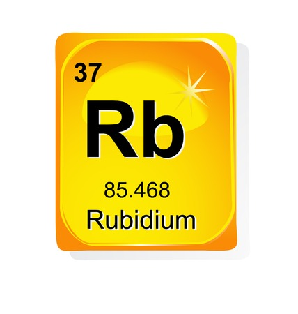 Rubidium chemical element with atomic number, symbol and weight Stock Vector - 24509761