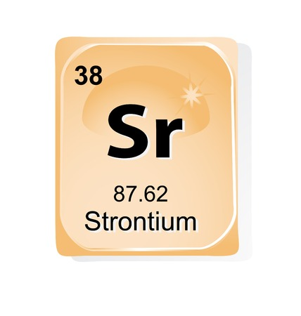 strontium: Strontium chemical element with atomic number, symbol and weight