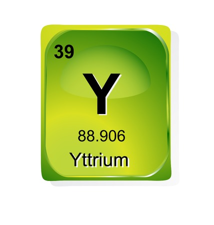 Yttrium chemical element with atomic number, symbol and weight Stock Vector - 24509765