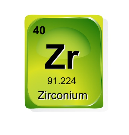 periodic table: Zirconium chemical element with atomic number, symbol and weight Illustration