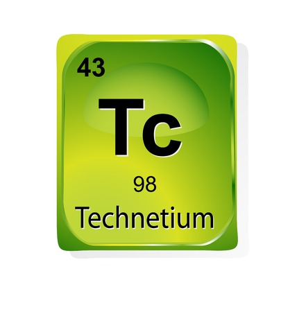 Technetium chemical element with atomic number, symbol and weight Stock Vector - 24509769