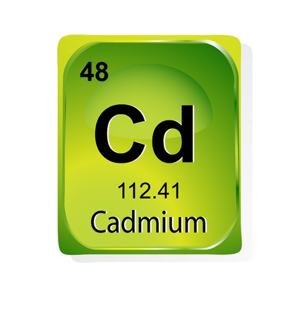 Cadmium chemical element with atomic number, symbol and weight Stock Vector - 24509807