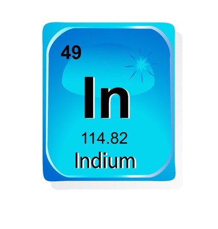 indium: Indium chemical element with atomic number, symbol and weight