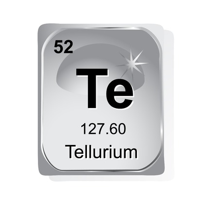 periodic element: Tellurium chemical element with atomic number, symbol and weight