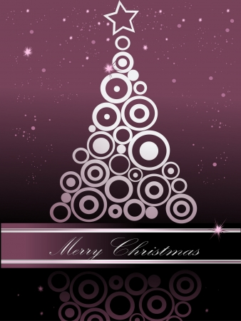 Christmas tree silver and violet Vector