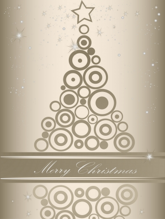 Christmas tree silver and gray Vector