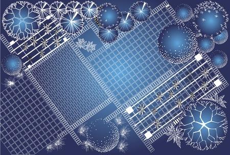 Vector blauwdruk van landschap architecturaal project, tuin plan met boom symbool