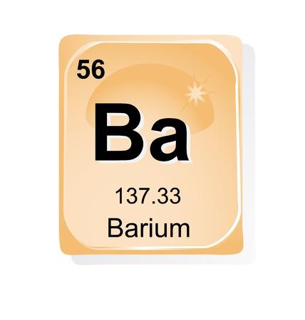 barium: Barium chemical element with atomic number, symbol and weight Illustration
