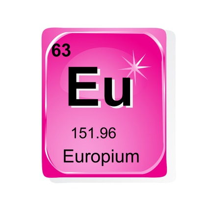 Europium chemical element with atomic number, symbol and weight Illustration