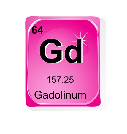 actinoids: Gadolinum chemical element with atomic number, symbol and weight