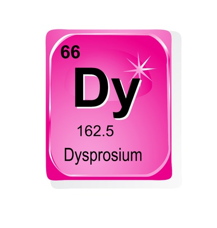 noble gas: Dysprosium chemical element with atomic number, symbol and weight