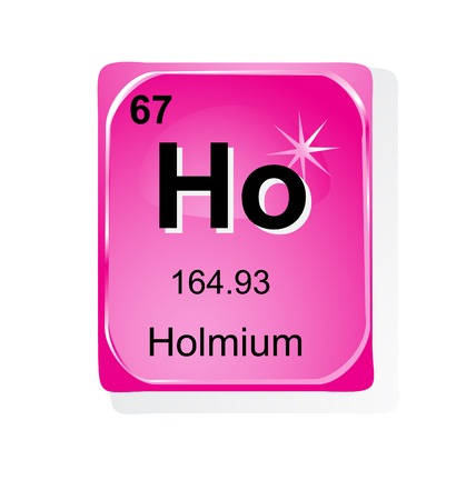 Holmium chemical element with atomic number, symbol and weight