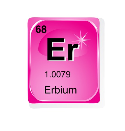 actinoids: Erbium chemical element with atomic number, symbol and weight