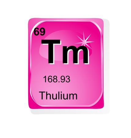 actinoids: Thulium chemical element with atomic number, symbol and weight