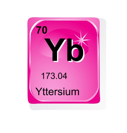 Yttersium chemical element with atomic number, symbol and weight Stock Vector - 28460828