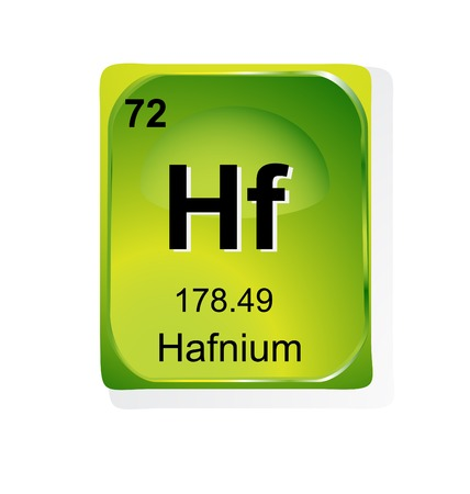actinoids: Hafnium chemical element with atomic number, symbol and weight