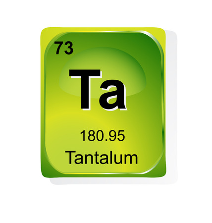 Tantalum chemical element with atomic number, symbol and weight Illustration