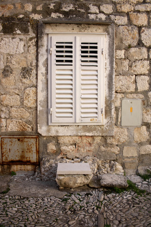 mediterranean house: Architectural detail of an old traditional mediterranean house. In Sutivan Brac Island.